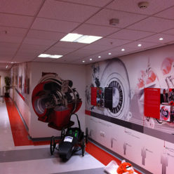 printed wallpaper and acylic panels for CTT